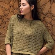 Как связать спицами укороченный пуловер волнистым рисунком