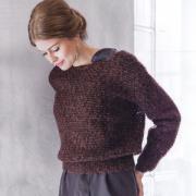 Как связать спицами укороченный пуловер с вырезом лодочка