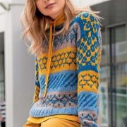 Как связать спицами узорчатый пуловер с жаккардовыми узорами