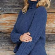 Как связать спицами узорчатый свитер с асимметричным краем