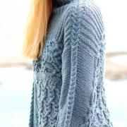 Как связать спицами узорчатый свитер с узором из кос и ромбов