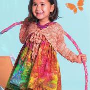 Как связать  оранжевое детское болеро
