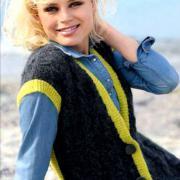 Как связать спицами удлиненный жилет и шарф с косами