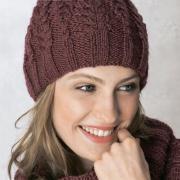 Как связать спицами классическая шапка с косами