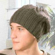 Как связать спицами мужская шапка с косами
