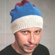 Как связать спицами полосатая мужская шапочка