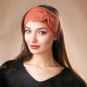 Как связать спицами повязка на голову с бантом