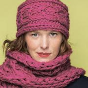 Как связать спицами повязка с косой на голову