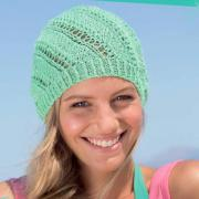 Как связать спицами шапочка бини с ажурным узором