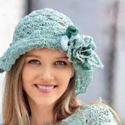 Как связать спицами шляпка с цветком
