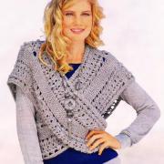 Как связать спицами ажурный шарф-жилет