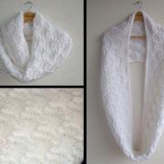 Как связать спицами белый шарф-труба