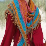 Как связать спицами большой шарф с жаккардовым узором