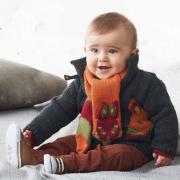 Как связать спицами детский шарфик в виде лисы