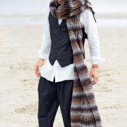 Как связать спицами длинный объемный шарф с косами