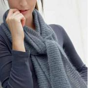 Как связать спицами простой шарфик для начинающих