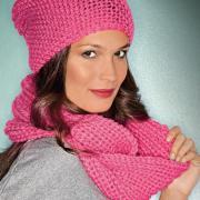 Как связать спицами розовый шарф-труба