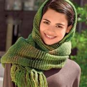 Как связать спицами шарф-капюшон с кистями