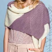 Как связать спицами шарф-палантин с ажурными узорами