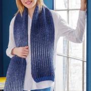 Как связать спицами шарф с узором «мозаика»