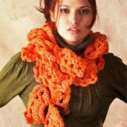 """Как связать спицами шарф """"веерами"""""""