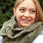 Как связать спицами схема шарф труба