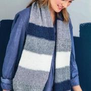 Как связать спицами широкий шарф в полоску