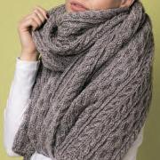 Как связать спицами узорчатый объемный шарф