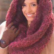Как связать спицами вишневый шарф труба
