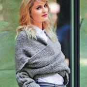 Как связать спицами перекрещенная накидка-пуловер