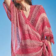 Как связать спицами платок-накидка с ажурным рисунком