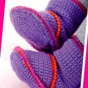 Как связать спицами детские носочки-сапожки