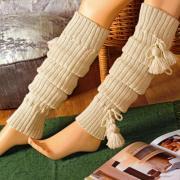 Как связать спицами гетры с завязками