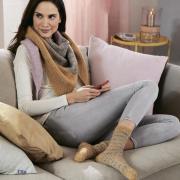 Как связать спицами полосатые цветные носки