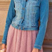 Как связать спицами пышная юбка до колена с ажурным узором