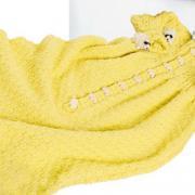 Как связать спицами спальный мешок для малыша с шахматным узором