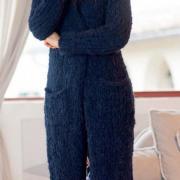 Как связать спицами удлиненное пальто с карманами без застежек