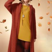 Как связать спицами удлиненное пальто без застежек с капюшоном