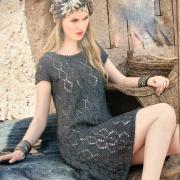 Как связать крючком ажурное платье с коротки рукавом