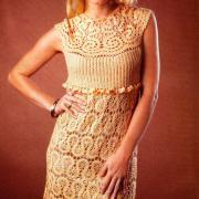 Как связать крючком платье из кружева без рукавов