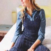 Как связать крючком платье-сарафан