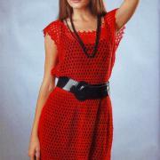 Как связать крючком свободное ажурное платье без рукавов