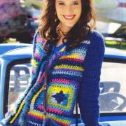 Как связать крючком цветной пуловер из квадратов