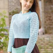 Как связать крючком короткий ажурный пуловер