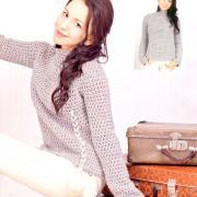 Как связать крючком серый свитер