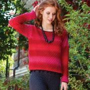 Как связать крючком свободный укороченный пуловер