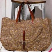 Как связать спицами сумка с большим карманом на коротких лямках