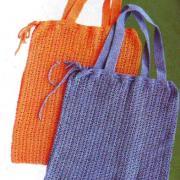 Как связать спицами сумка- шопер с завязками