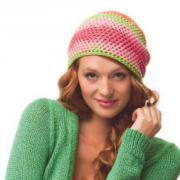 Как связать крючком цветная шапочка бини