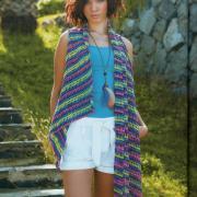Как связать крючком цветной шарф-жилет